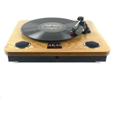 Akai ATT-09 Retro bakelit lemezjátszó beépített hangszórókkal RCA audió kimenettel