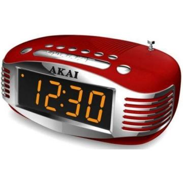 Akai CE-1500 RED ébresztőórás rádió piros színben