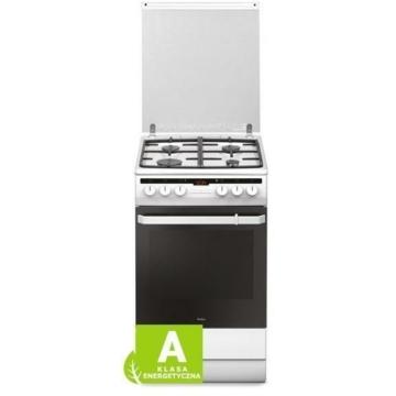 Amica 55344 kombinált tűzhely fehér színben tetővel multifunkciós sütővel