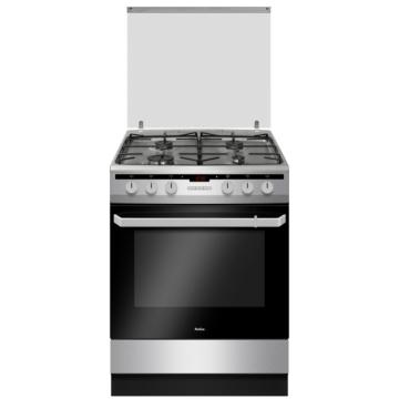 Amica 55701 60 cm széles inox színű kombinált tűzhely 10 programos multifunkciós sütővel