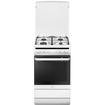 Amica 55343 kombinált tűzhely fehér színben, multifunkciós sütővel