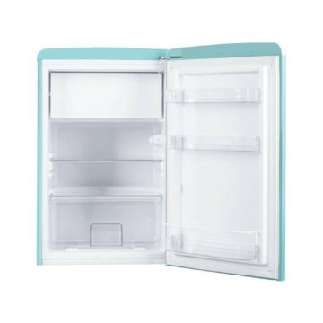 Amica KS 15612 T egyajtós kék színű retro hűtőszekrény 13 literes fagyasztórekesszel