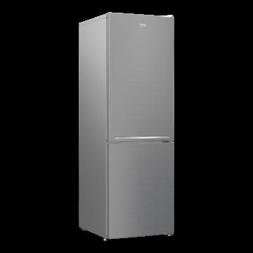 Beko RCSA366K40 XBN alulfagyasztós inox hűtőszekrény 2 év garanciával 3 fiókos fagyasztóval hagyományos hűtési rendszerrel