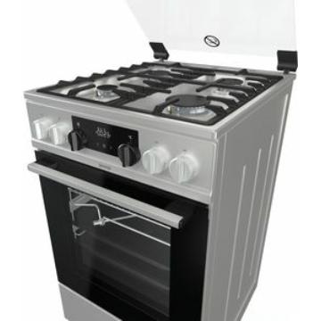 Gorenje KS5350XF kombinált tűzhely 70 literes multifunkciós sütővel, gőzfunkcióval, katalitikus hátfallal inox színben üvegtetővel