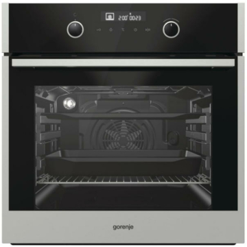 Gorenje BO747A42XG beépíthető sütő 3 év garancia 71 literes nagyméretű multifunkciós sütőtérrel, lassú ajtózáródással, fekete-inox színben