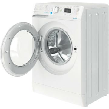Indesit BWSA 61251 W EE N elöltöltős keskeny mosógép 6 kg ruhatöltettel és 1200 fordulatos centrifugával