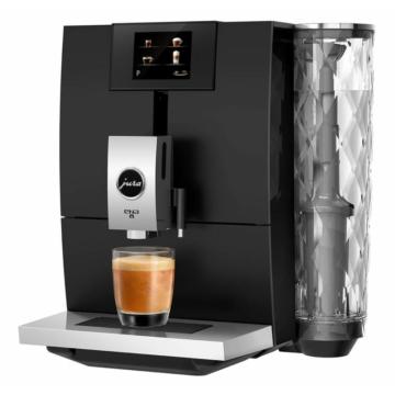 Jura Ena 8 Touch Full Metropolitan Black fekete színű automata kávéfőző 15 bar nyomaással 12 féle ital készítésére alkalmas