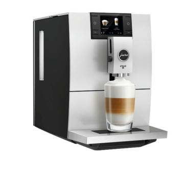 Jura Ena 8 Metropolitan Black fekete színű automata kávéfőző 15 bar nyomaással 12 féle ital készítésére alkalmas