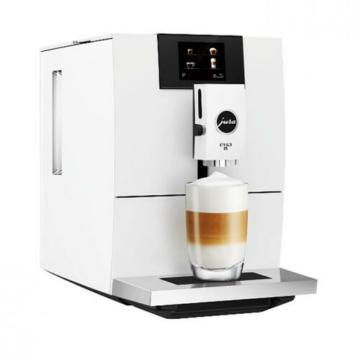 Jura Ena 8 Touch Full Nordic White teljesen fehérszínű automata kávéfőző 15 bar nyomaással 12 féle ital készítésére alkalmas