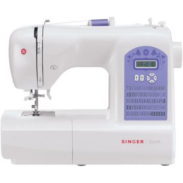 Singer 6680 STARLET varrógép Elektronikus vezérlés, 80 öltésminta, ezen belül dekor és rugalmas öltések, 6 féle automata 1 lépéses gomblyukvarrás, LCD kijelző, Állítható öltészélesség és hosszúság - akár 6.5 mm széles öltések, Automata tűbefűzés, Állíthat