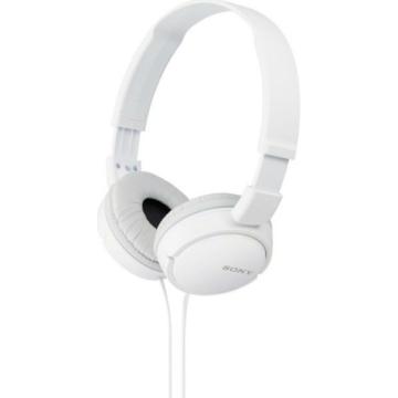 Sony MDR-ZX110 fehér színű fejhallgató, összecsukható, utazáshoz praktikus