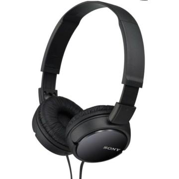 Sony MDR-ZX110 fekete színű fejhallgató, összecsukható, utazáshoz praktikus