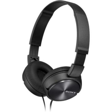 Sony MDR-ZX310B kompakt kialakítású fekete színű, összecsukható vezetékes fejhallgató