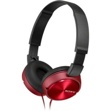 Sony MDR-ZX310R kompakt kialakítású piros színű, összecsukható vezetékes fejhallgató