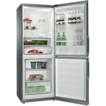 Whirlpool WB70E 972 X 444 literes alulfagyasztós inox színű kombinált hűtőszekrény NoFrost hűtési rendszerrel