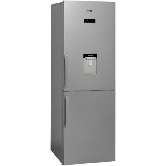 Beko MCNA-366E30 DXBN alulfagyasztós hűtőszekrény inox színben NoFrost hűtési rendszerrel, italadagolóval, bortartó ráccsal