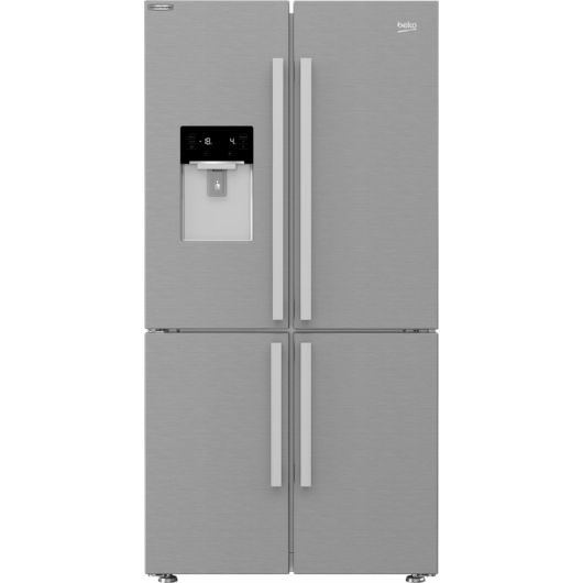 Beko GN-1426234 ZDXN Side by Side amerikai hűtőszekrény jég és vízadagolóval inverteres motorral NoFrost hűtési rendszerrel