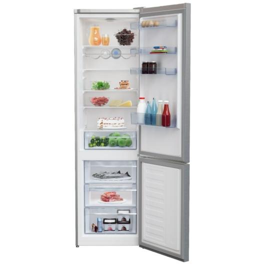 Beko RCSA366K40 XBN alulfagyasztós inox hűtőszekrény 2 év garanciával