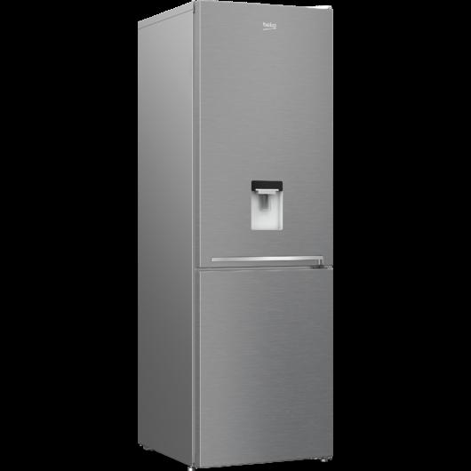 Beko RCSA366K40 DSN alulfagyasztós inox hűtőszekrény 2 év garanciával 3 fiókos fagyasztóval hagyományos hűtési rendszerrel italadagolóval