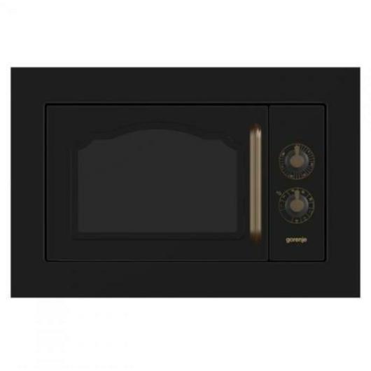 Gorenje BM235CLB 23 literes 800 W-os beépíthető mikrohullámú sütő fekete rusztikus színben 3 év garanciával