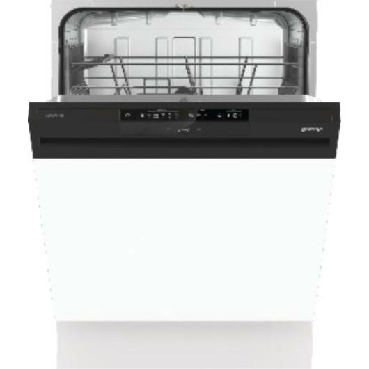 Gorenje GI641D60 beépíthető mosogatógép fekete kezelőpanellel AquaStop vízvédelmi rendszerrel, TotalDry maradékhő szárítással.