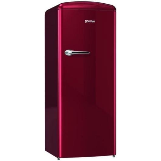 Gorenje ORB153R egyajtós hűtószekrény burgundi vörös 3 év garanciával