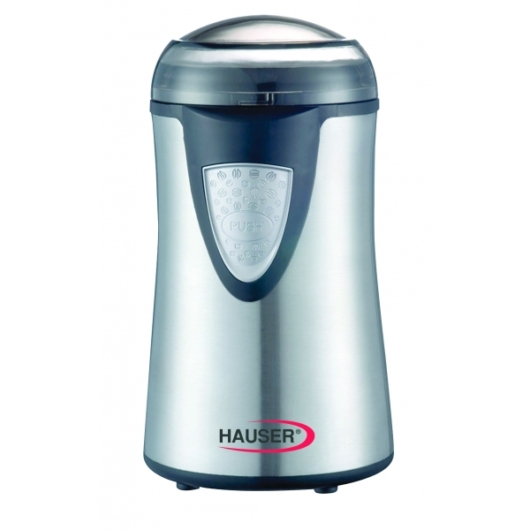 Hauser G-742 kávédaráló amely alkalmas, dió mák vagy olajos magvak aprítására, rozsdamentes acél késekkel 150 W-os motorteljesítmény