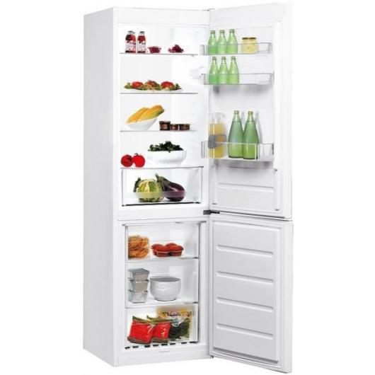 Indesit LR7S2W Alulfagyasztós kombinált hűtőszekrény A++