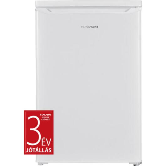 Navon HC 111 egyajtós hűtőszekrény fehér színben 109 literes űrtartalommal és 14 literes fagyasztóval.