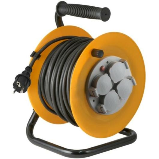 HOME HJR10-50 kábeldob fém aljzattal 50 méter IP44 3 x 1,5 mm²