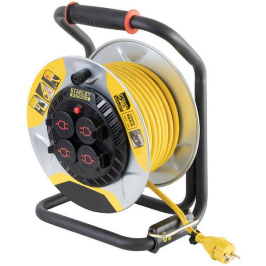 Stanley SXECCM2FASE kültéri fém kábeldob 25 méter IP44