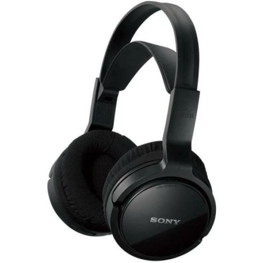Sony MDR-RF811RK vezeték nélküli rádiófrekcenciás fejhallgató fekete színben akár 13 órás használat 100 méteres hatótávolság